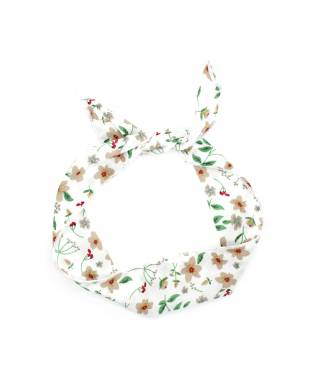 Bunny à attacher motif floral crème