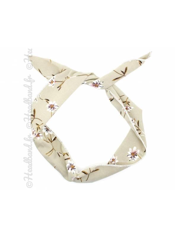 Accessoire fil de fer vintage fleur kaki