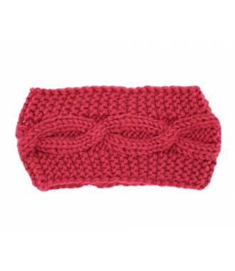 Bandeau tricot croisement rouge