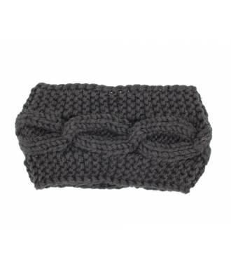 Bandeau tricot croisement noir