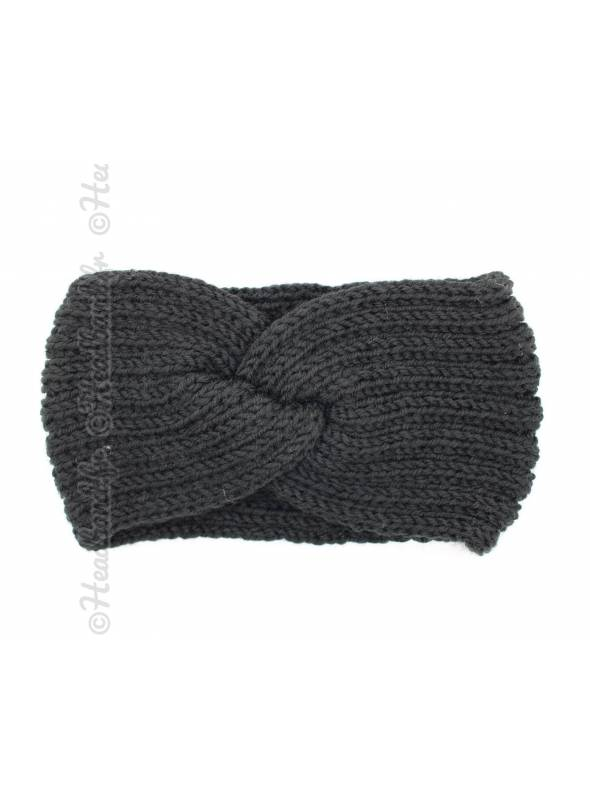 Headband hiver croisé noir