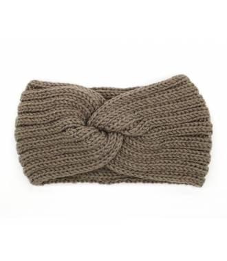 Headband hiver croisé kaki