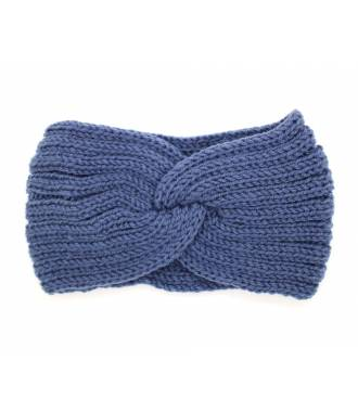Headband hiver croisé bleu
