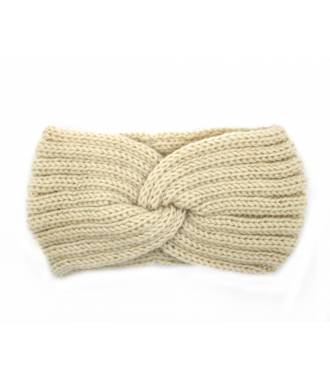 Headband hiver croisé beige