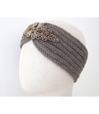 beaucoup de choix de rechercher l'original meilleure qualité pour Headband maille perles et strass gris Headband maille perles et strass gris