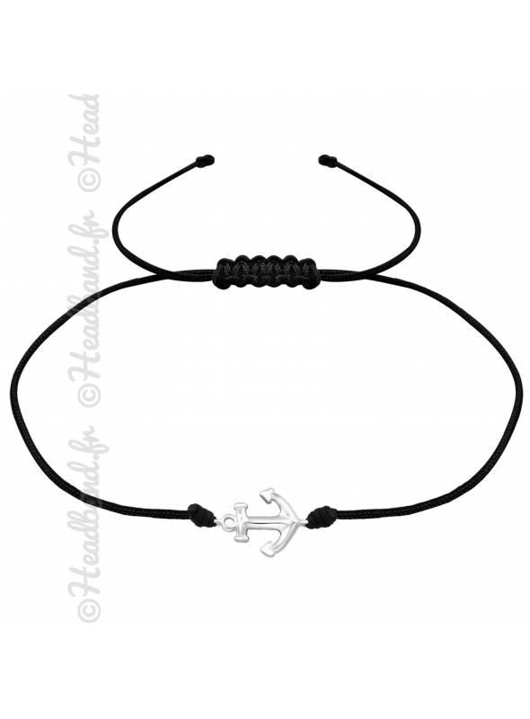 Bracelet cordon signe infini argent