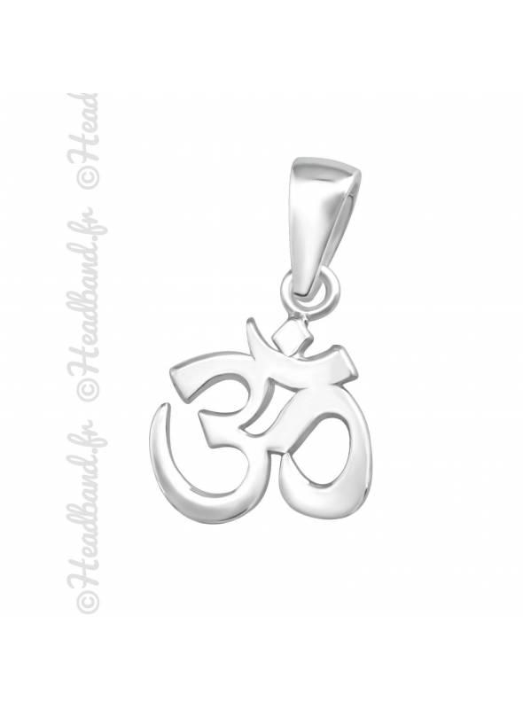 Pendentif symbole OM yoga argent 925