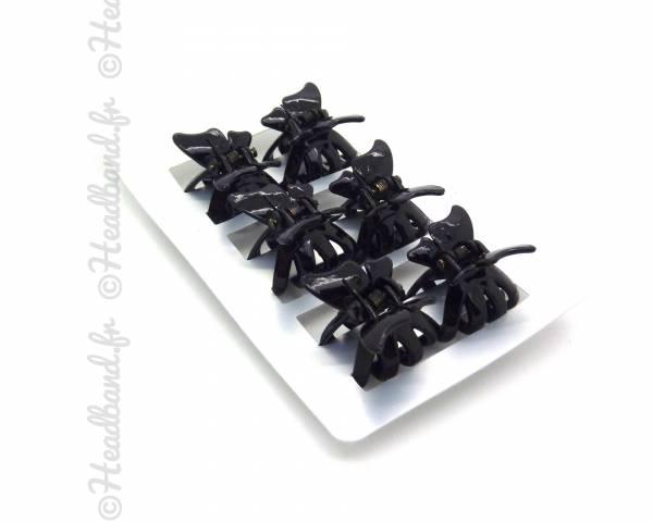 Mini-pinces papillon noires