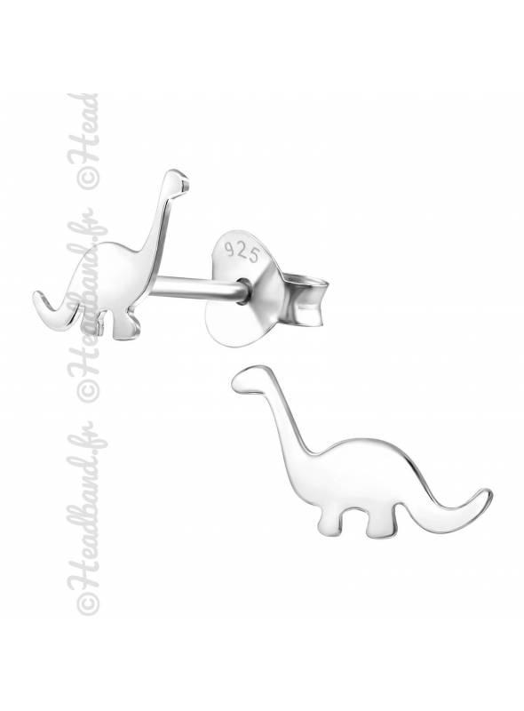 Boucles d'oreilles dinosaure argent