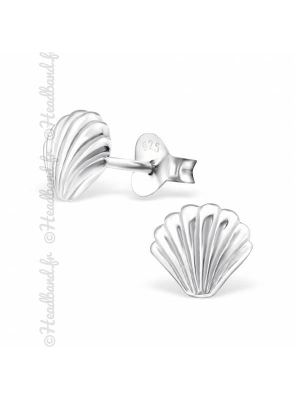 Boucles d'oreilles shell argent