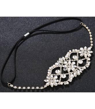 Headband cristaux baroque doré