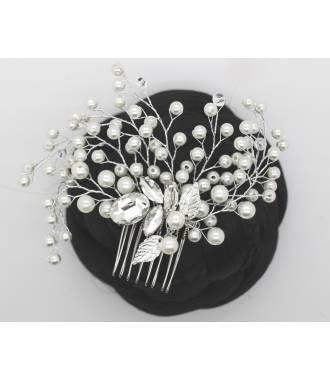 Peigne nuptial imitation perles