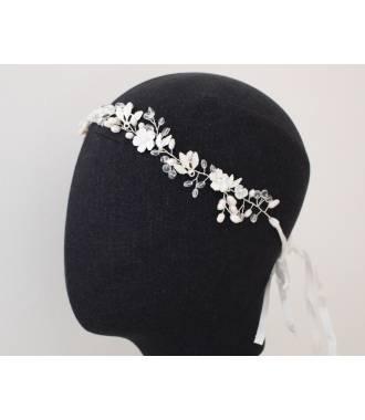 Headband mariée baroque fleurs doré Alycia