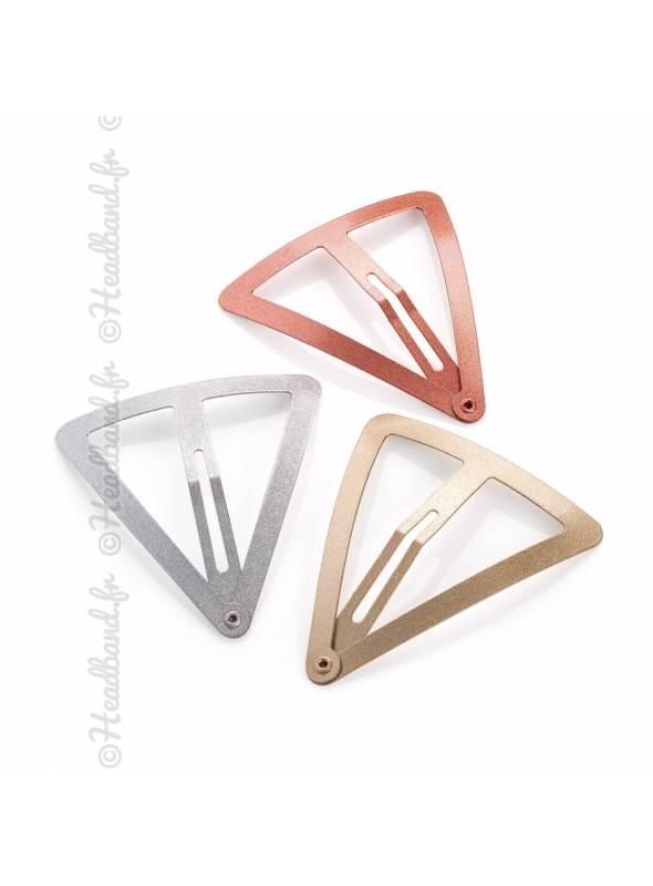 Lot de 3 pinces clic-clac triangles