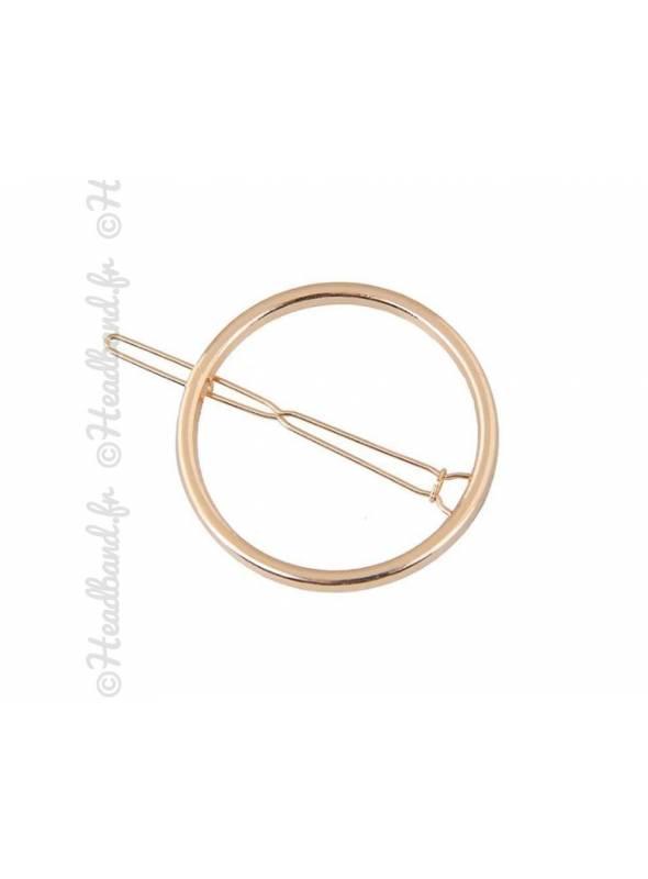Barrette métal cercle doré