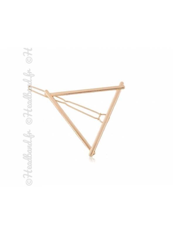Barrette métal triangle doré