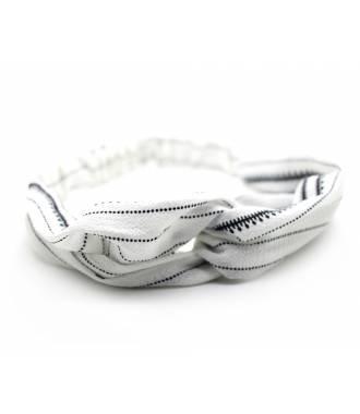 Bandeau cheveux motif chaine blanc