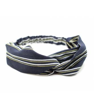 Turban mousseline noir et blanc
