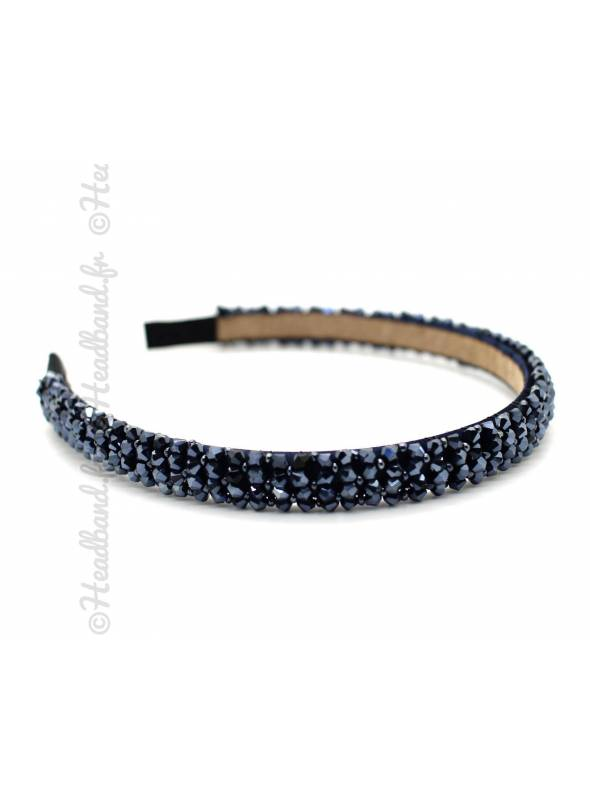 Serre-tête élégant cristaux bleu