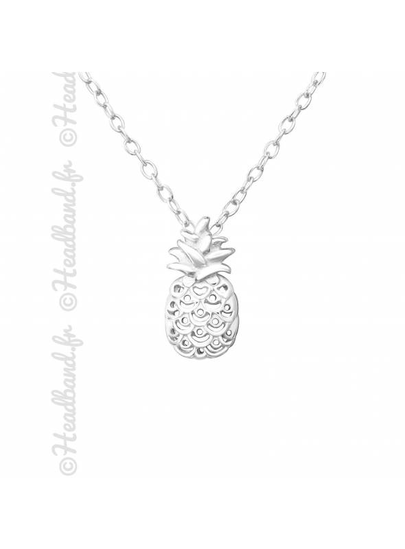 Collier ananas fille argent 925