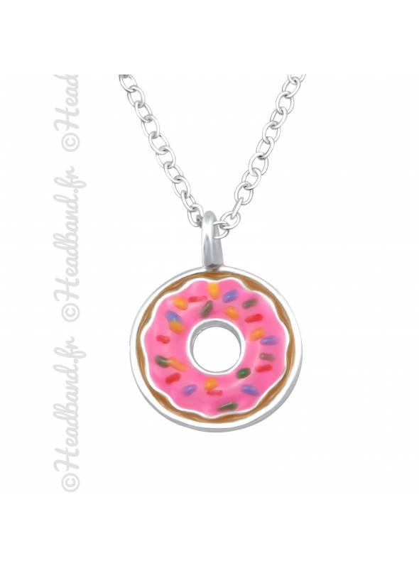 Collier donut enfant argent 925