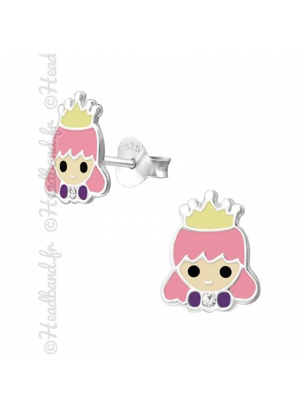 Boucles d'oreille princesse argent 925