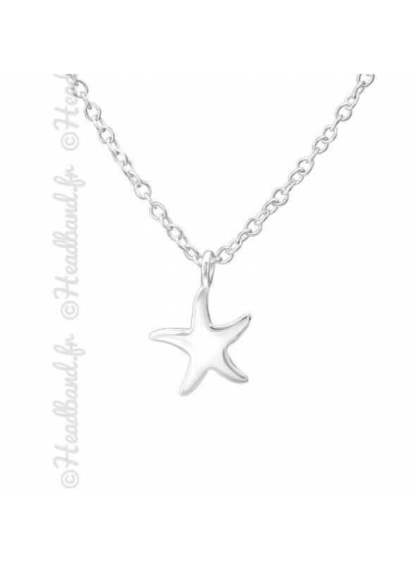 Collier enfant étoile de mer argent 925
