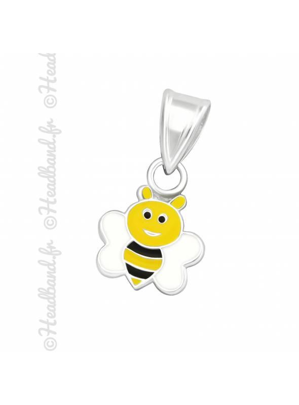 Pendentif enfant abeille émail argent 925