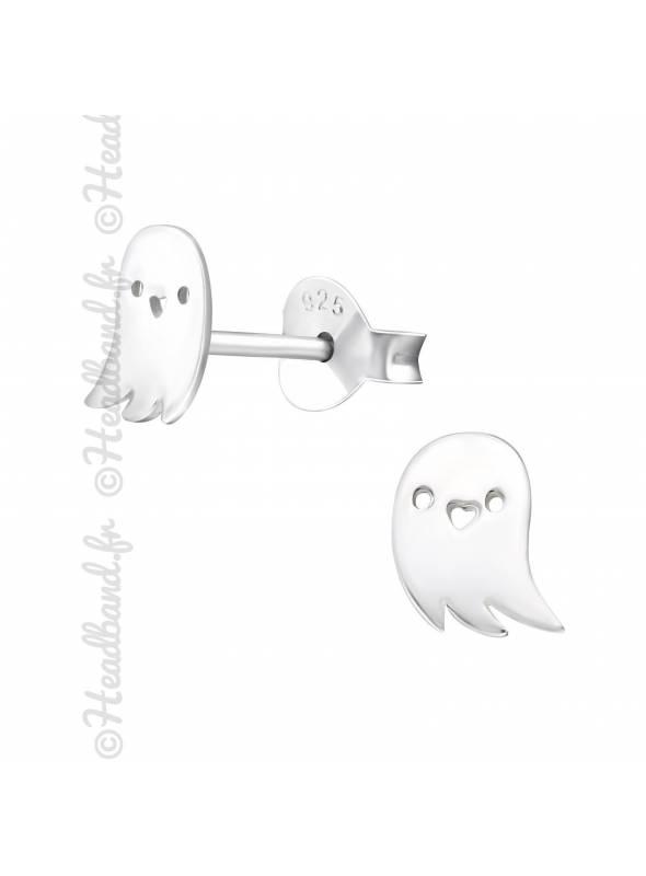 Boucles d'oreilles fantôme argent