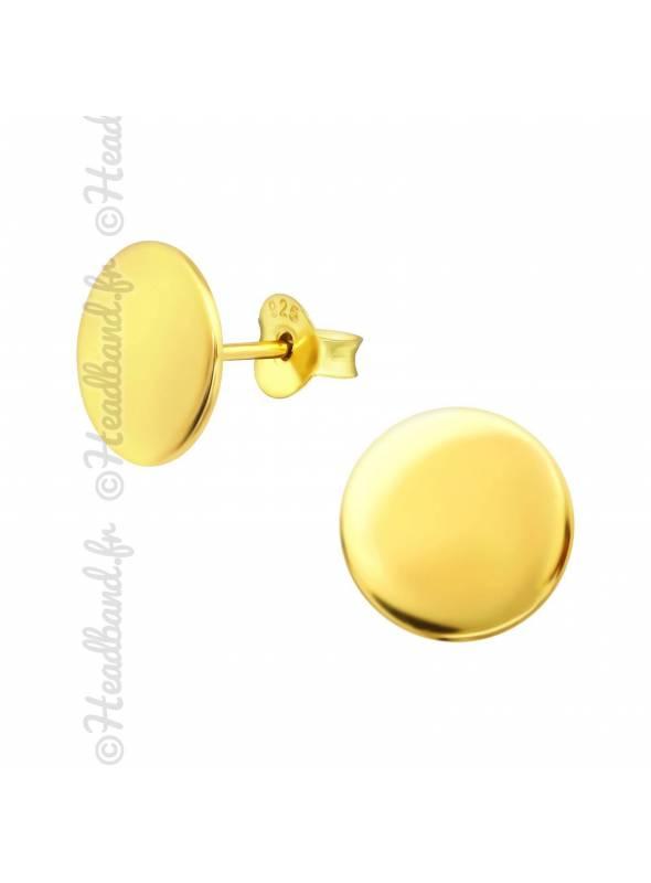 Clous d'oreilles cercle plaqué or