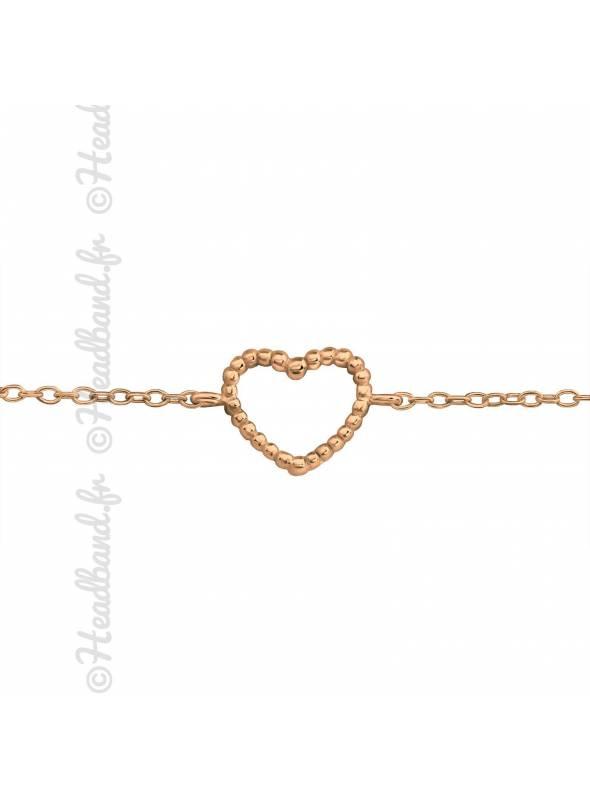 Bracelet coeur plaqué rose gold
