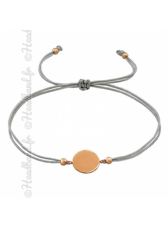 Bracelet cordon cercle plaqué rose gold