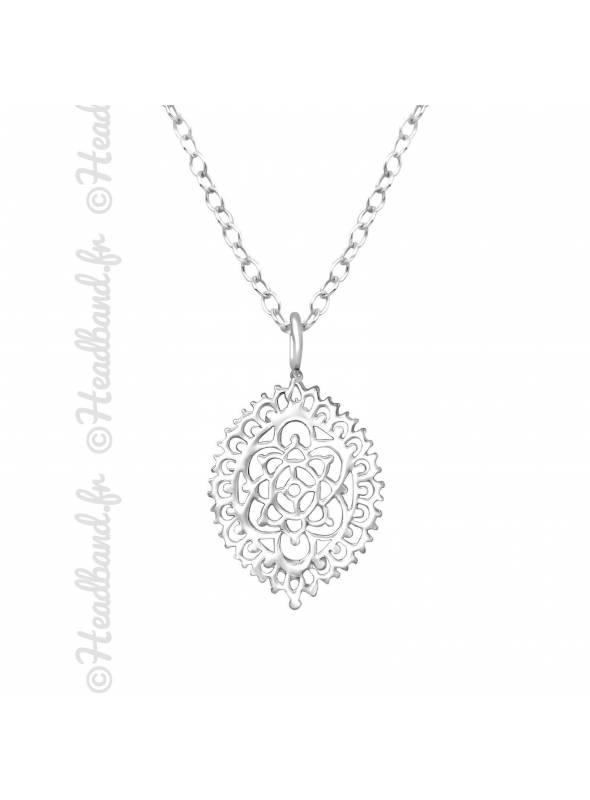 Collier boule cristaux zirconium argent 925