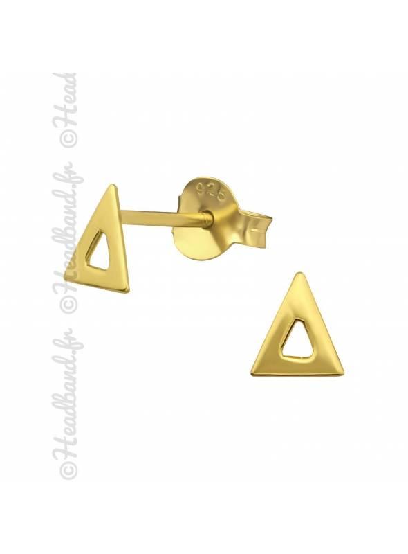 Boucles d'oreilles petit triangle plaqué or