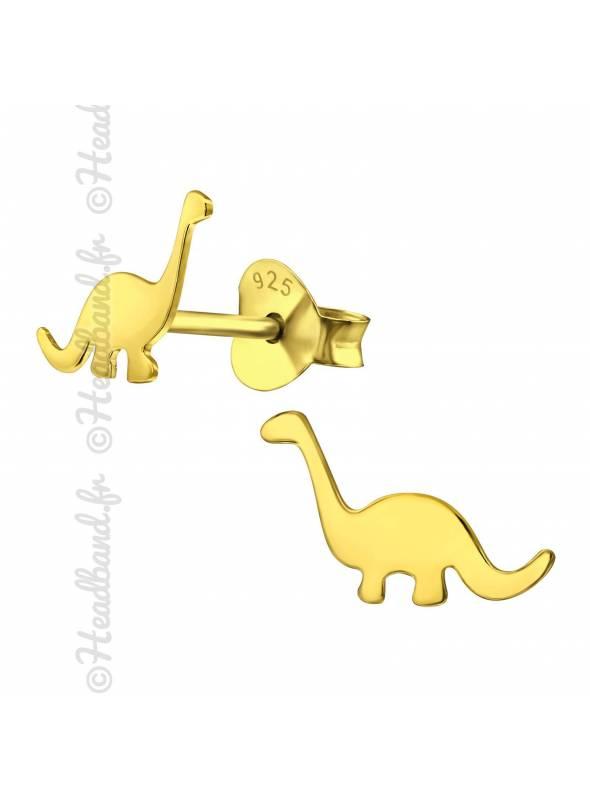 Clous d'oreilles dinosaure plaqué or