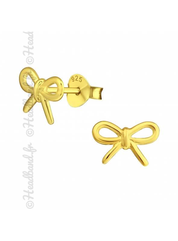 Clous d'oreilles motif noeud plaqué or