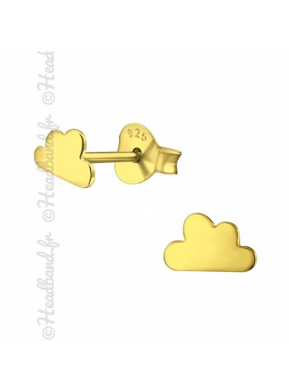 Clous d'oreilles nuage plaqué or
