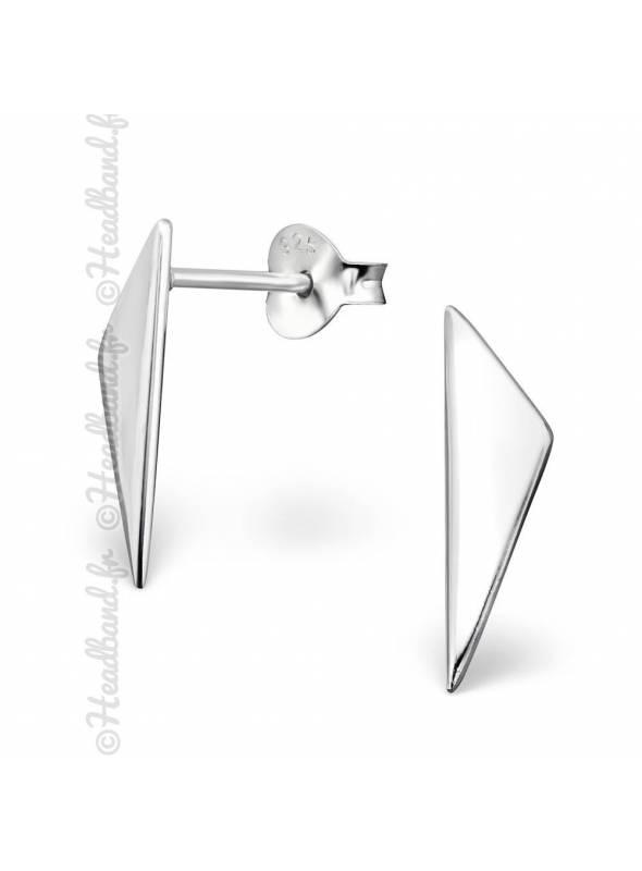 Clous d'oreilles triangulaires en argent