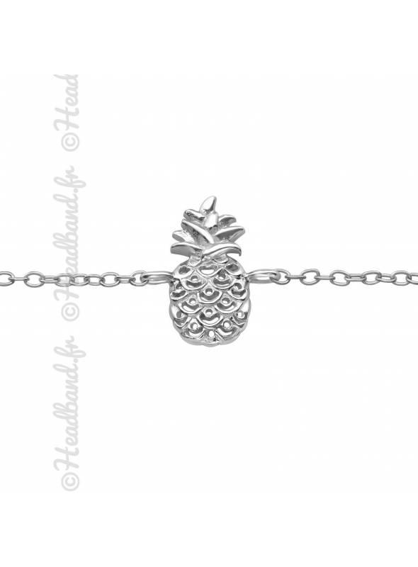Bracelet motif ananas argent 925