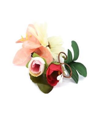 Barrette fleur tissu pour mariage