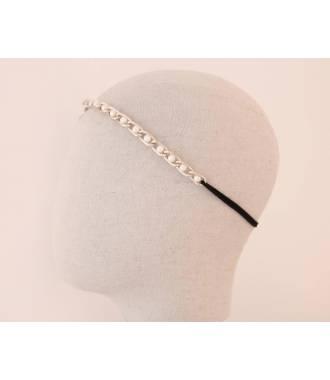 Bijou de tête maillons petites perles blanches