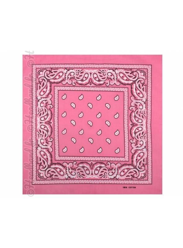 Bandana rose clair