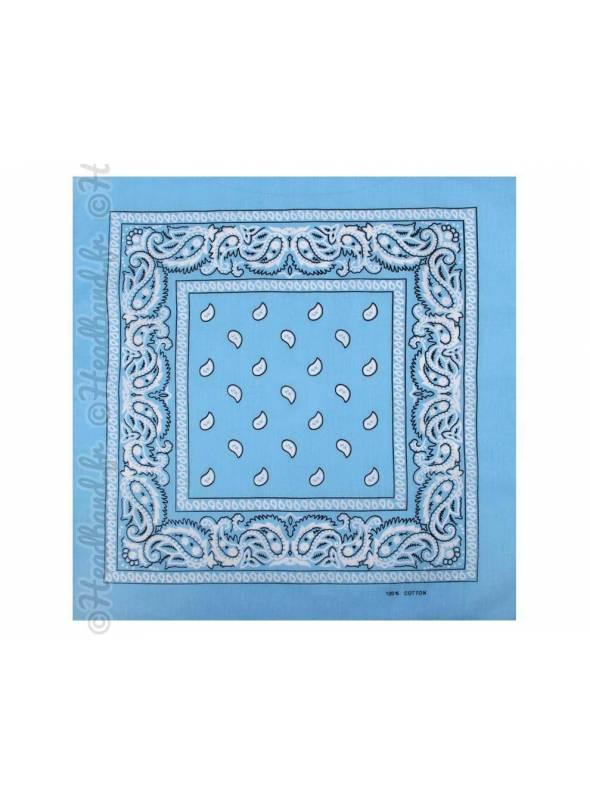 Bandana bleu clair