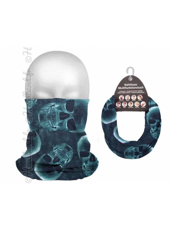 Headband running homme motif skull neon