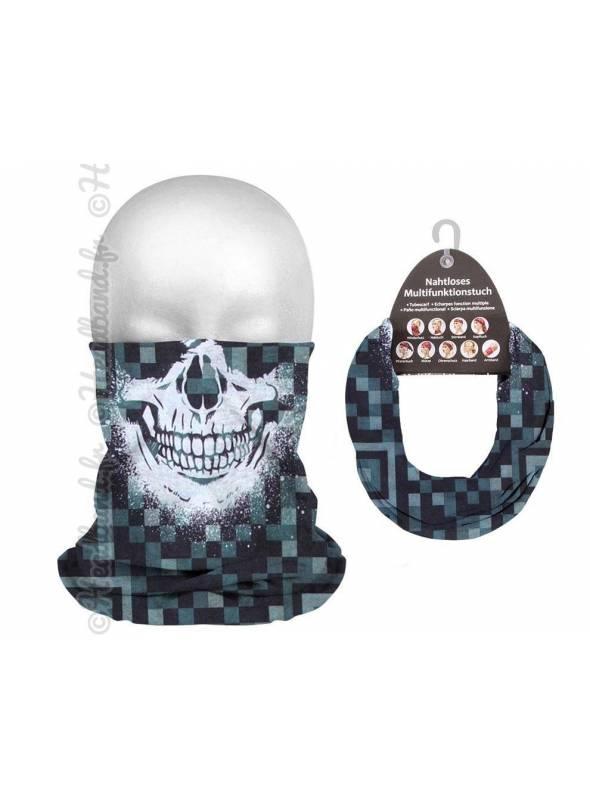 Bandeau sport tube pixel crâne