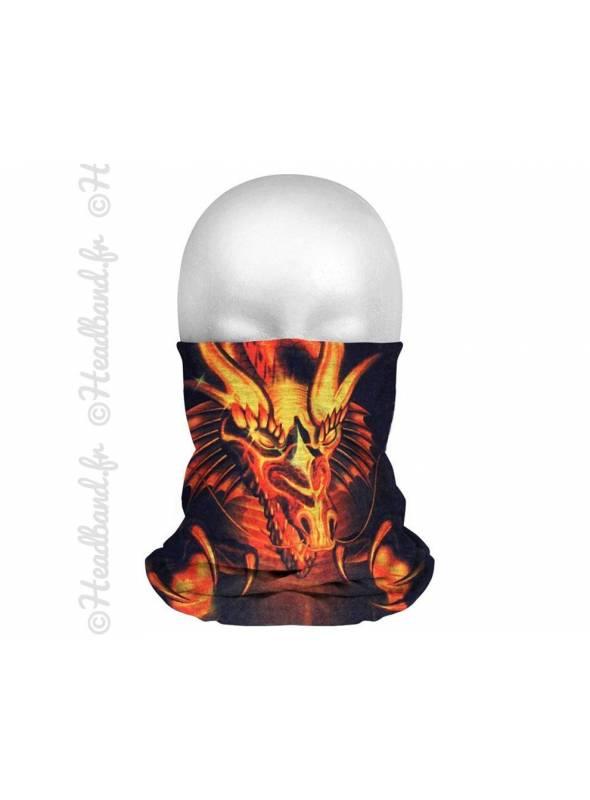 Headband running homme dragons et feu