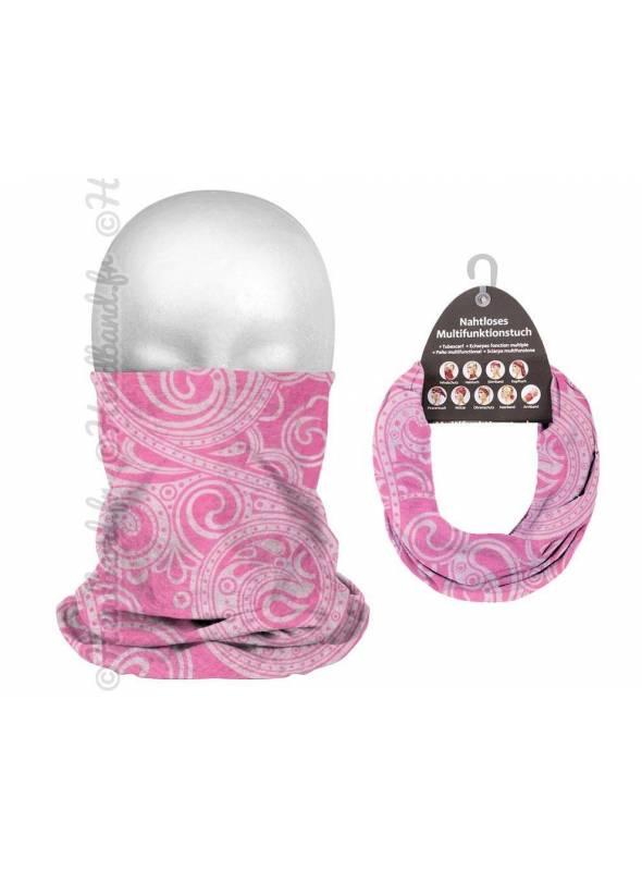 Bandeau multifonction 9 en 1 bandana rose