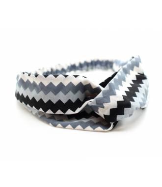 Bandeau graphique gris, blanc et noir