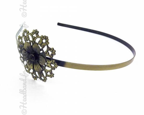 Serre-tête flower métal