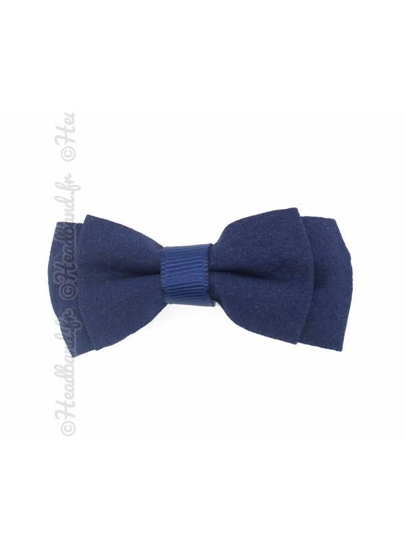 Pince clip double noeud 6 cm bleu